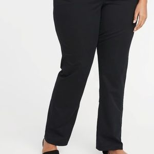 Black Bootcut Chinos Size 22 Plus Long